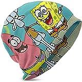 Spongebob Schwammkopf Jungen und Mädchen, Bean Caps und Kinder Strickmütze sind geeignet für Herbst und Winter - (Schwarz) CAP-5937