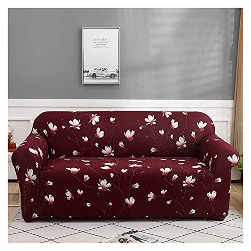 OYZK Cubierta de sofá Floral, Tapa de sofá elástica para Sala de Estar Moderno Esquina Sofá Sofá Sillón Sillón Sillón Cubierta 1/2 / 3/4 plazas (Color : 10, Specification : 2 Seater 145 185cm)