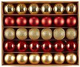 HEITMANN DECO Navidad - Juego de 30 Bolas de Navidad - Decoraciones navideñas Rojas y...