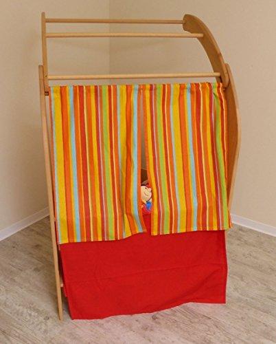 Kasperletheater Tuch-Set 4005 für Spielständer - Vorhang - Spielhaus-Ergänzung