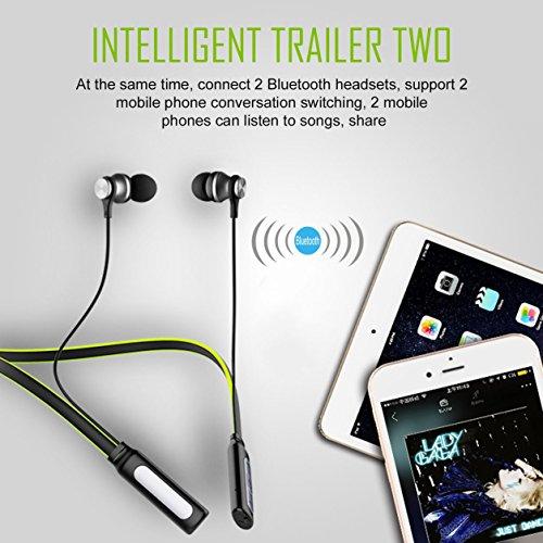 Dailyinshop Bluetooth CSR 4.1 Écouteur Neckband sans fil Magnet Stereo Headset Casque (Couleur: vert)