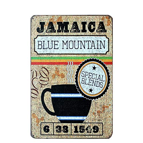 PotteLove Jamatica Blue Mountain Koffie Vintage Metalen Tekenen Tin Plaques Muurposter voor Garage Man Cave Bier Cafee Bar Pub Club Home Decor