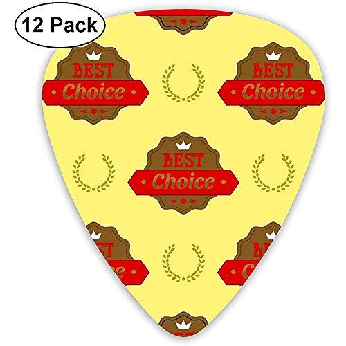 12 Pack Badges Shop Product Verkoop Beste Prijs Stickers Gitaar Picks Complete Gift Set voor Gitarist