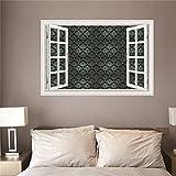 3D Fensterblick Leinwand - Wandbild - Fototapete - Poster -