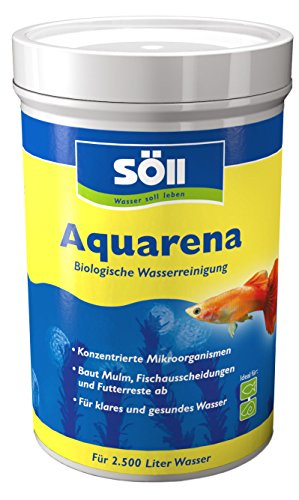 Söll 10051 Aquarena biologischer Aquarien-Wasserreiniger 250 g - Wasseraufbereiter Schlammentferner Schadstoffneutralisator mit Klarwasserbakterien zur Selbstreinigung & Pflege von Aquarienwasser