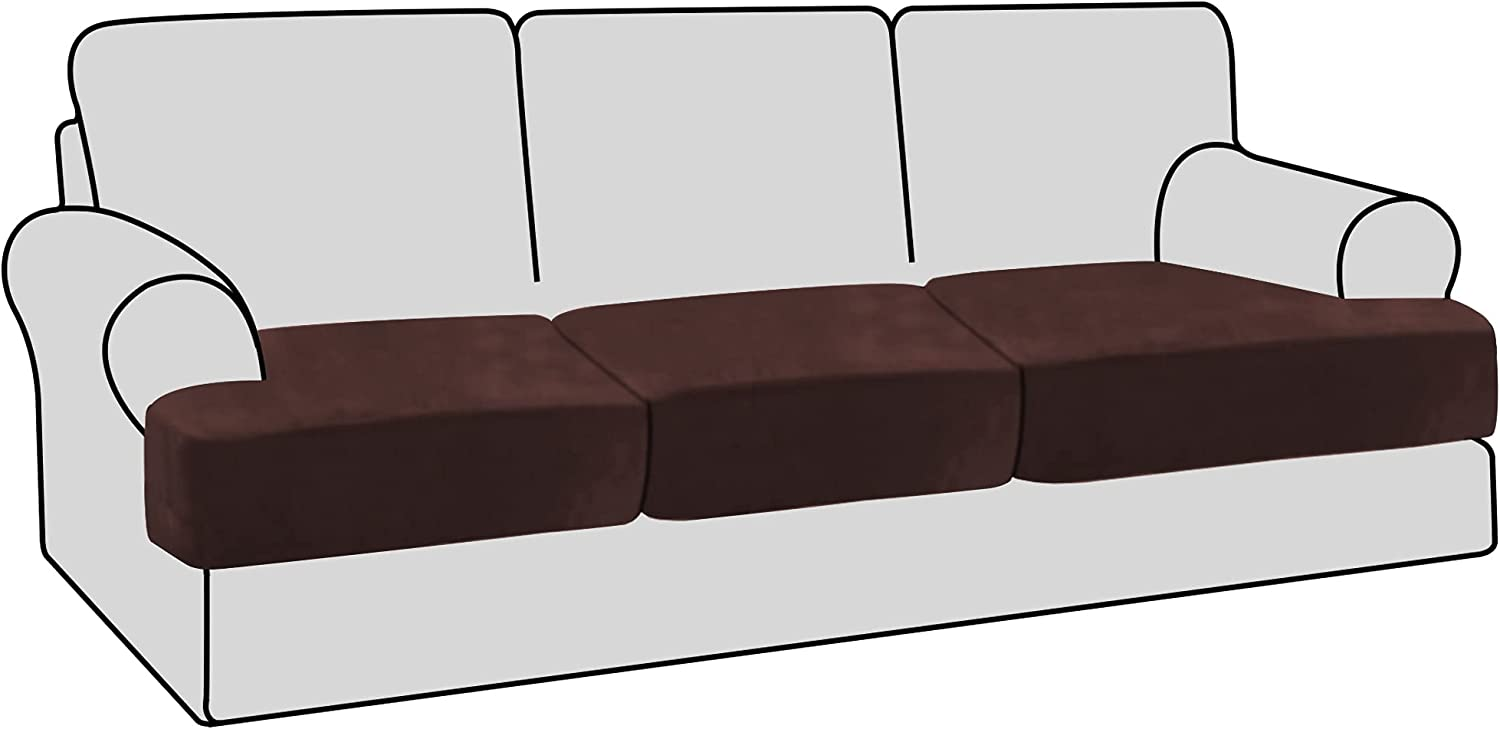 H.VERSAILTEX Translated Factory outlet Stretch Velvet 3 Piece Cushion In T Sofa Slipcovers