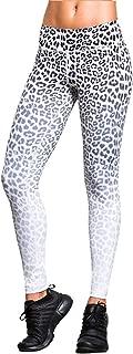 HAODIAN Women Leopard Print Workout Yoga Pants High Waist Tummy Control Leggings