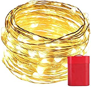 LED String Lights,33ft 100 Led Waterproof Ball Lights,No Pollution Physical Battery Powered?just add Water and Salt? for Bedroom, Garden, Christmas Tree, Wedding, Party