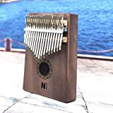 HENGTONGTONGXUN 17 Touche Kalimba Acrylique Thumb Piano 17 Touches Mbira clavier transparent accordeur Marteau Gig Bag Kimi calimba mini-piano, Facile à utiliser (Couleur : Sun flower)
