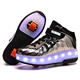 Pattini a rotelle per Bambini con Ruote 7 Colori Luci a LED Scarpe Sportive Ricarica USB P...
