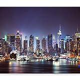 murando Fotomurales 350x256 cm XXL Papel pintado tejido no tejido Decoración de Pared decorativos Murales moderna de Diseno Fotográfico Ciudad New York d-B-0034-a-b