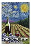 Promini Sonoma County Wine Country, California - Vineyard - Starry Night - 1000 Piece Jigsaw Puzzles for Adults Kids, Puzzles for Toddler Children Boys and Girls 20' x 30'