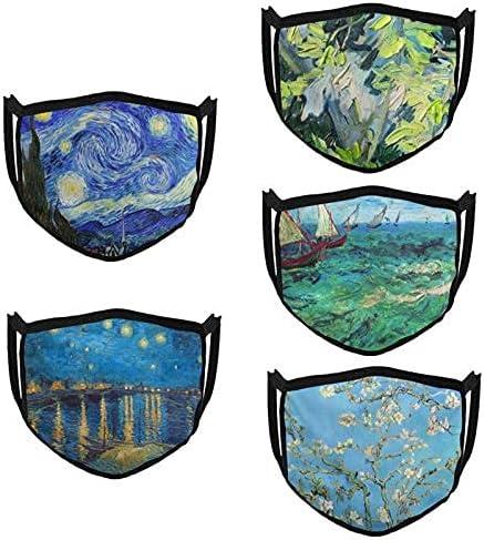 Van Gogh Face trust Mask Adjustable Cloth Washable Reusable Las Vegas Mall