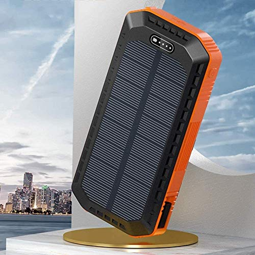 LILIS Portable Generator Portable Power Station Solar Power Bank 20000mAh, Solar Portable Charger With Type C Port & 2 USB Outputs, With LED Flashlight, Tablet And More Suitable