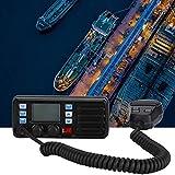 needlid Boat VHF Radio, Marine Radio, Large Screen Display Black Voice Pressure Expansion Design for Boat