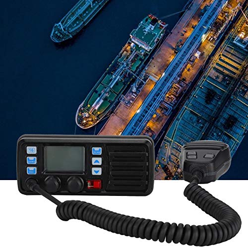 fegayu Black Noise Reduction ABS Material Boot UKW-Radio, Bootsradio, für Boot