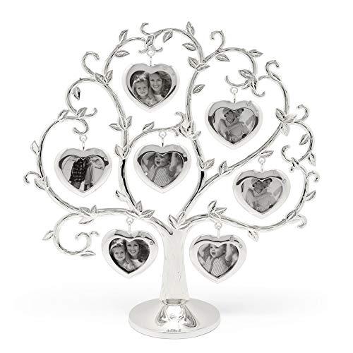 Zilverstad Stammbaum Herz für 2x7 Fotos, versilbert 8131261