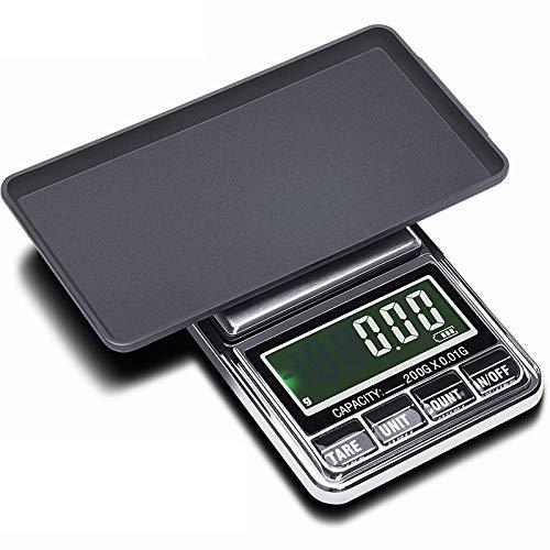 Mini balanzas de precisión para joyería, peso 0.01g / 0.1g, balanza de gramo, balanza de bolsillo, balanza de precisión digital, adaptador USB con alimentación de 500g x 0.01g