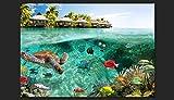 Vlies Fototapete 200×140 cm ! Top – Tapete – Wandbilder XXL – Wandbild – Bild – Fototapeten – Tapeten – Wandtapete – Wand – Natur Landschaft Meer Fish Himmel tropischen Insel Sommer c-A-0027-a-a - 7