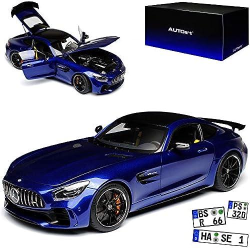 AUTOart Mercedes-Benz AMG GT R Coupe Brilliant Blau Metallic 76334 Ab 2014 1 18 Modell Auto mit individiuellem Wunschkennzeichen