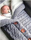Poplover Neugeborenes Baby Swaddle-Decke Vlies Kinderwagen Wrap Schlafsäcke Grau