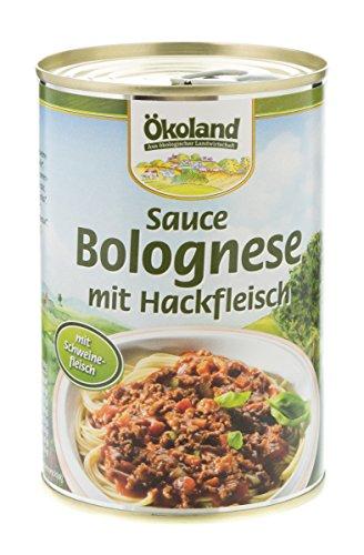 Ökoland Sauce Bolognese mit Hackfleisch (400 g) - Bio