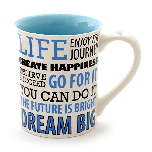 Enesco 4057545' Dream Big Stoneware Coffee Mug, Blu