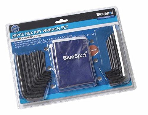Blue Spot 15307 25 pièces Clé hexagonale et pochette