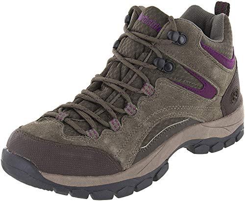 Northside Women's Pioneer Hiking Boot, Stone/Berry, 8 B(M) US