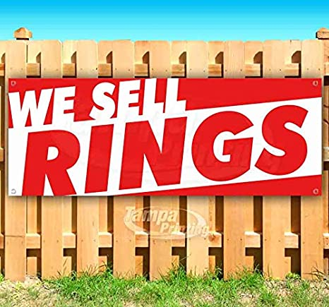 We Sell Rings 13 oz Banner Heavy-Duty Vinyl Single-Sided with Metal Grommets
