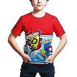 ZONVENL Superzings Camiseta Camiseta del Ocio de Dibujos Animados de impresión Camiseta de Moda del diseño de la Camiseta for niños y niñas Hombres (Color : A09, Size : L)