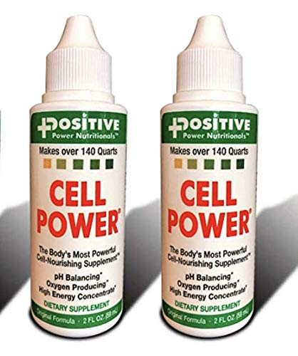 Cell Power Liquid High-Energy Concentrate , 2 oz. Bottle (Pack of 2) -Original 1949 Formula: pH Balancing, Oxygen Producing -each fl oz. Makes over 75 quarts (2)