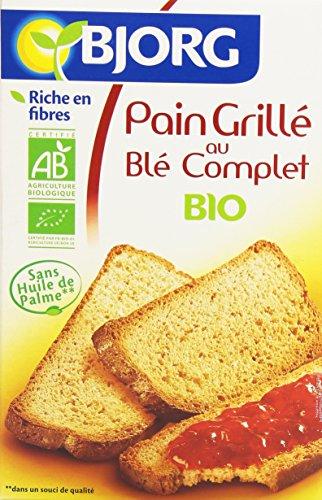 Bjorg Pain Grillé au Blé Complet Bio – Léger & Croustillant – 12 Tranches – 250 g