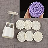 Bath Bomb Mold Kit & Bath Bombs Press DIY Making Supplies Tool - 1 Barrel 6 Stamps