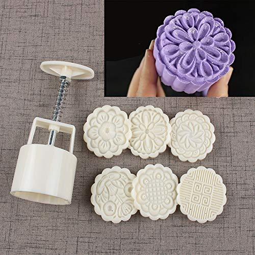 Bath Bomb Mold Kit & Bath Bombs Press DIY Making Supplies Tool - 1 Barrel 6 Stamps