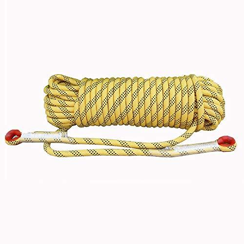 Corde de sécurité multifonctionnelle Extérieur Escalade corde avec mousquetons Arbre matériel d'escalade Activités de plein air for 10MM 20MM (jaune) Heavy Duty Mountain Equipment pour Randonnée Alpin