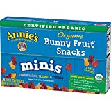 Annie's Homegrown Homegrown Organic Mini Bunny Fruit Snacks Strawberry, Mango, Cherry, 0.8 Ounce, 5 count