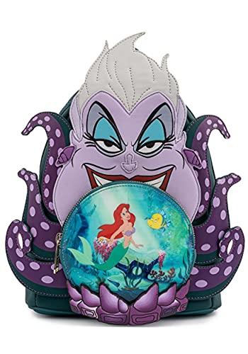 Loungefly Disney Villains Scene Ursula Crystal Ball Womens Double Strap Shoulder Bag Purse