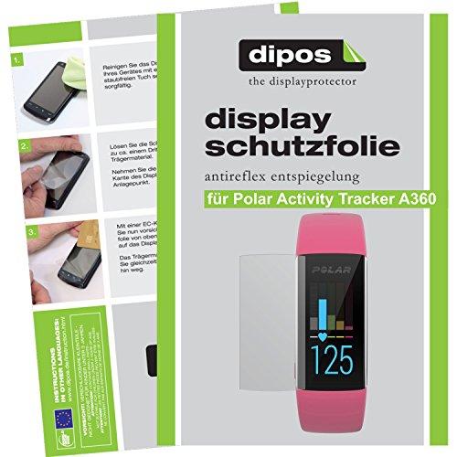 dipos I 6X Schutzfolie matt kompatibel mit Polar Activity Tracker A360 Folie Bildschirmschutzfolie