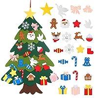 Albero di Natale:L'albero di Natale in feltro viene solitamente utilizzato per decorazioni natalizie,design carino,con molti motivi natalizi,come;angelo,omino di pan di zenzero,Babbo Natale,renne,piccione,fiocco di neve,caramelle,campana,regalo,calza...