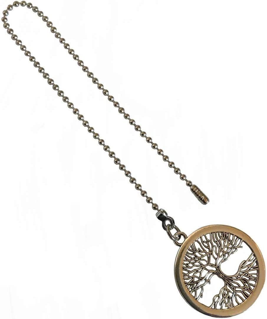 Large Detailed Tree of Life Fan Industry No. 1 Pull Silver Light Large discharge sale Ornament Chain