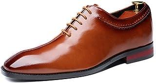 Zapatos de Vestir para Hombre de Negocios con Cordones Vintage Puntiagudos Zapatos de Boda de graduación Clásicos Zapatos ...