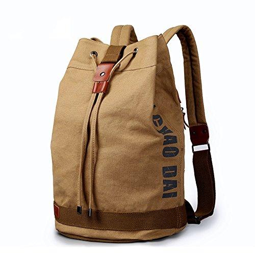 XINCADA Canvas Backpack High Density Rucksack Travel Bags School Backpack Laptop Bag for Men Outdoor Hiking Backpacks