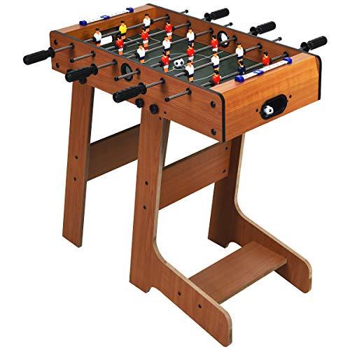 COSTWAY Tischkicker klappbar, Kickertisch inkl. 2 Bällen, Spieltisch für Erwachsene und Kinder ab 8 Jahren, Tischfußball für Spielzimmer, Bars und Partys