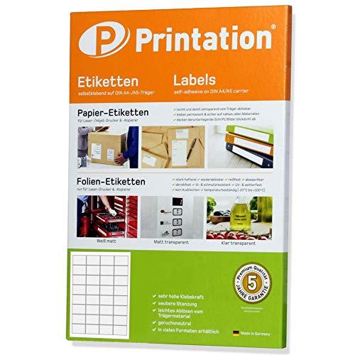 Universele etiketten 48,3 x 33,8 mm zelfklevend wit bedrukbaar - sticker/online postzegels 48,3 x 33,8 op DIN A4 vel - internetmerk 4200 8643 (100)