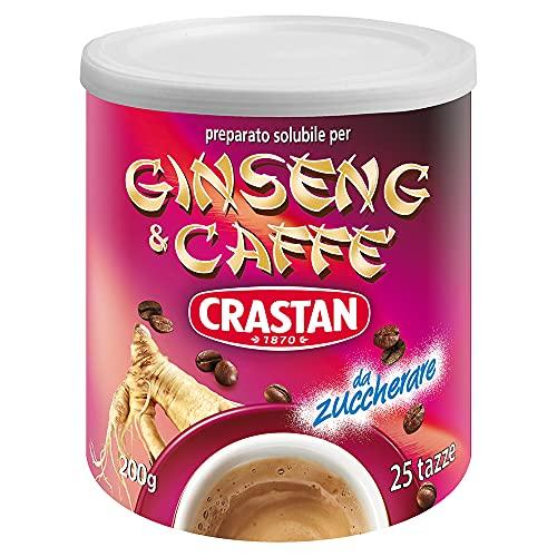 Crastan Preparato per Bevanda solubile Ginseng & Caffè da zuccherare - 6 Barattoli da 200g [tot. 1.2kg]