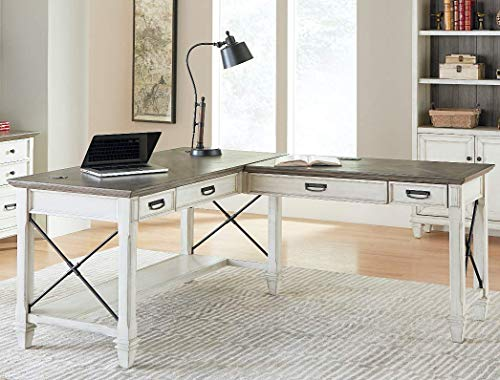 Martin Furniture Open L-Desk, White