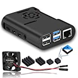 Raspberry Pi 4 Case, MazerPi Raspberry Pi Case with Cooling Fan, Raspberry Pi 4 Heatsink for Raspberry Pi 4 Model B, Pi 4B, Pi 4