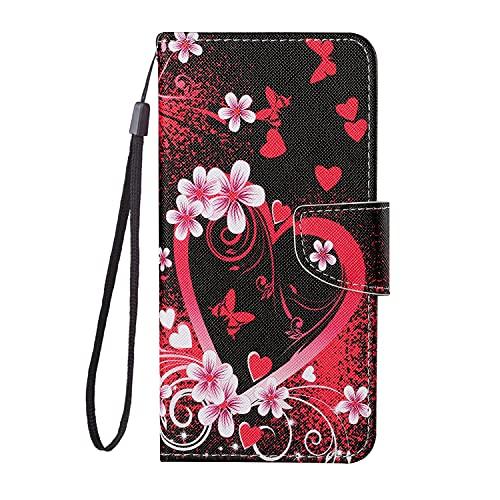 ChoosEU Funda para iPhone 6 Plus/iPhone 6S Plus Cuero con Tapa y Carcasa con Silicona Suave Protectora Flip Folio Case Antigolpes para Chicas Mujer Hombres Cartera Cover - Amor