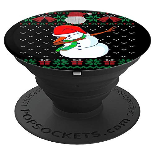 Dabbing Snowman, Ugly Christmas Sweater Xmas Dab Kids Boys PopSockets Grip and Stand for Phones and Tablets
